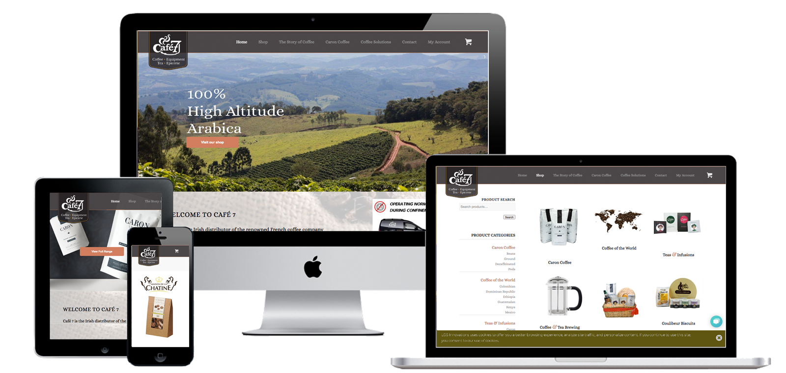 A responsive ecommerce website, running on WordPress, designed and launched by iSupply's web team